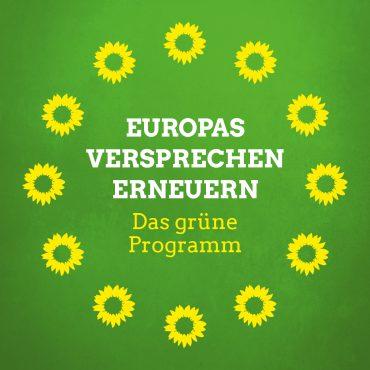 Europawahl am 26.Mai 2019 – Grün wählen!