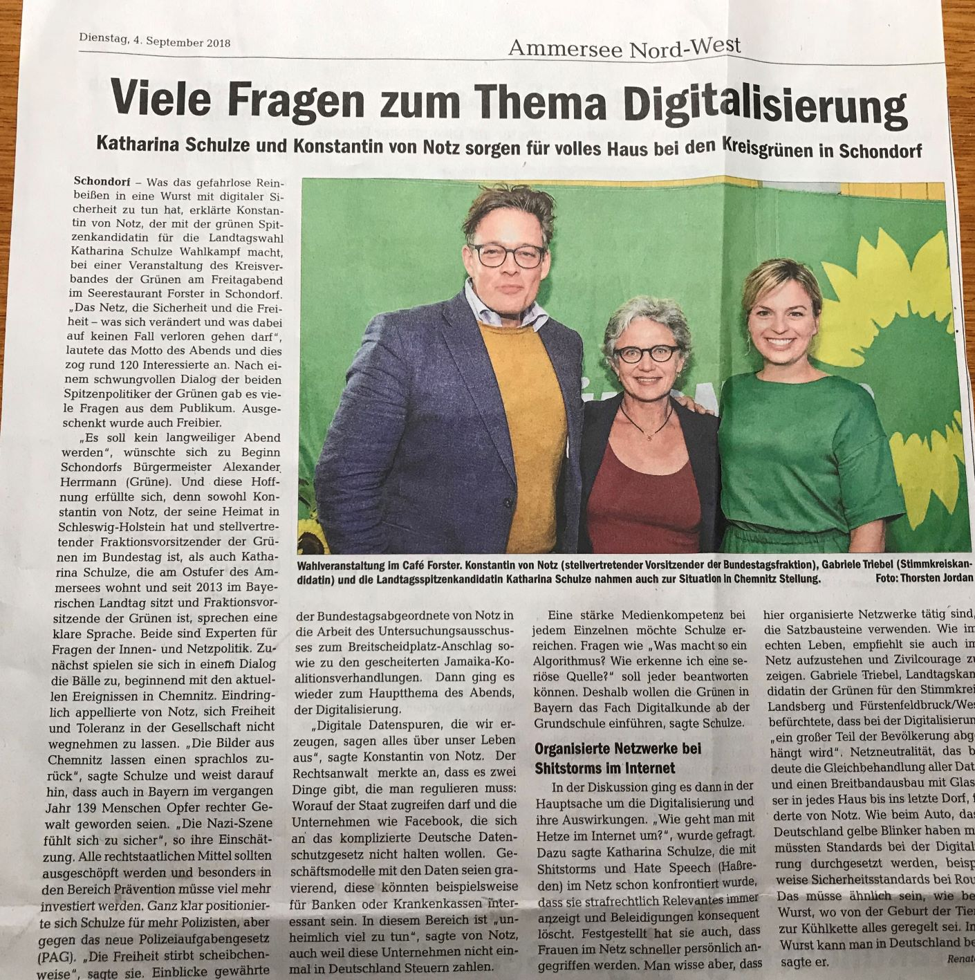 Tolle Veranstaltung mit Katharina Schulze und Konstantin von Notz